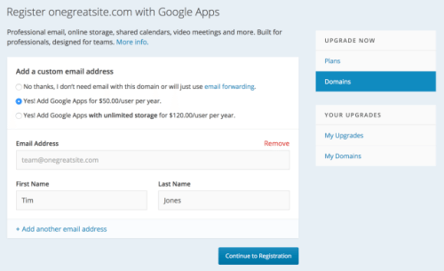 Add Gmail, Calendar, and Drive to Your Site