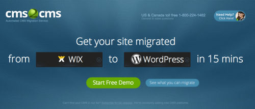 cms2cms: Automated Website Migration in a Few Easy Steps