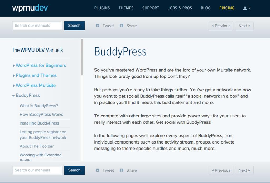 The WPMUDEV Manuals: BuddyPress