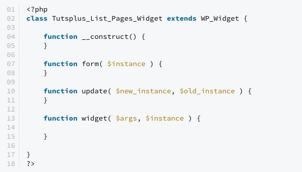 Coding and Registering Your WordPress Widget