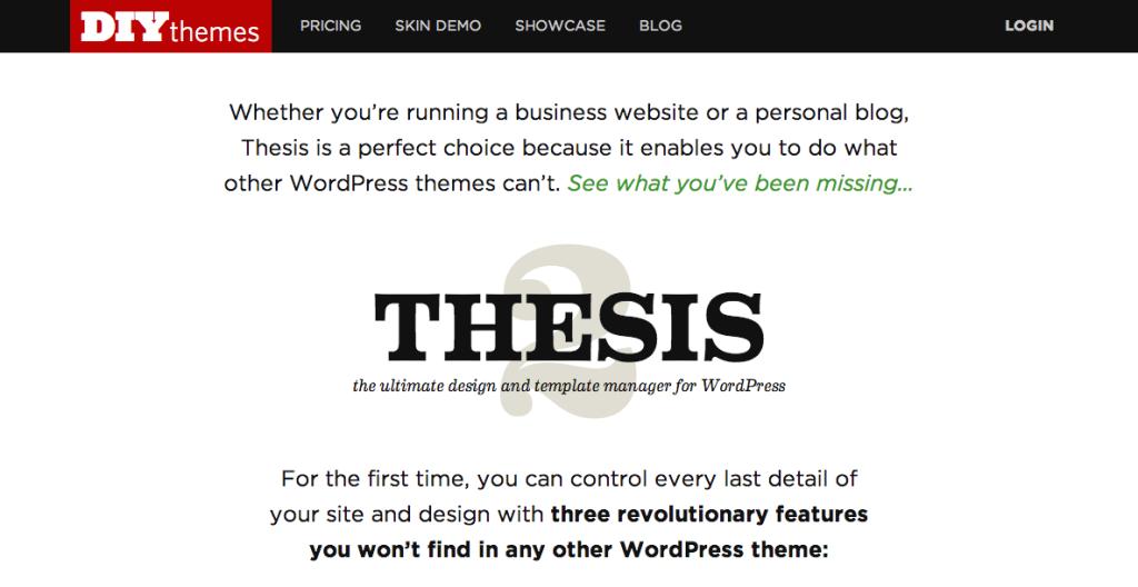 DIYThemes.com Thesis