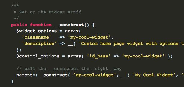 Removing PHP4 Compatibility in WordPress Custom Widgets