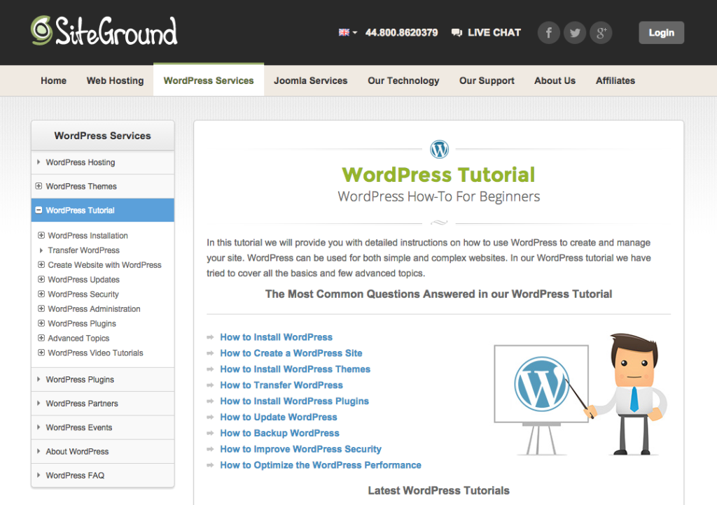 SiteGround WordPress How-To For Beginners