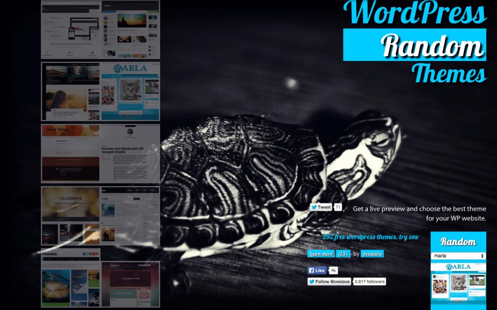 WordPress Random Themes