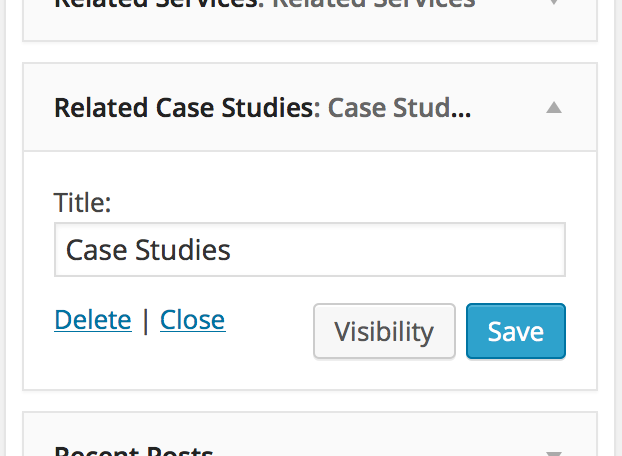 Custom WordPress widget showing CPT entries from the same category/categories