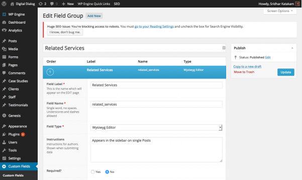 How to create a custom widget that displays value of a custom field in WordPress