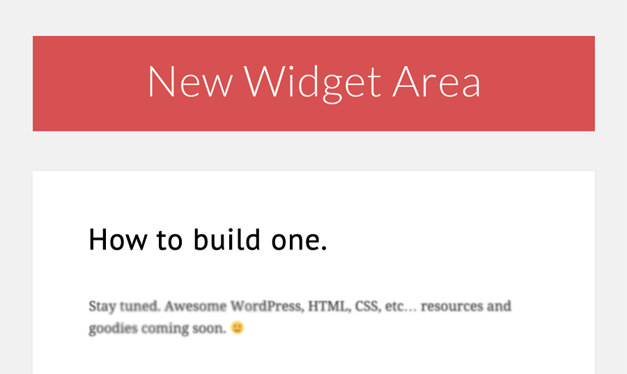 The Guide to Adding Widget Areas to WordPress Websites