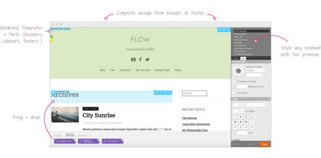 Create Your Own WordPress Theme With Themify Flow