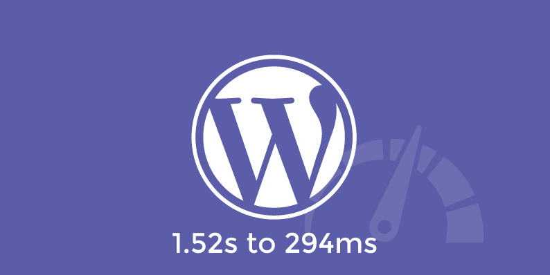 Speed Up WordPress – How I Went From 1.52s to 294ms