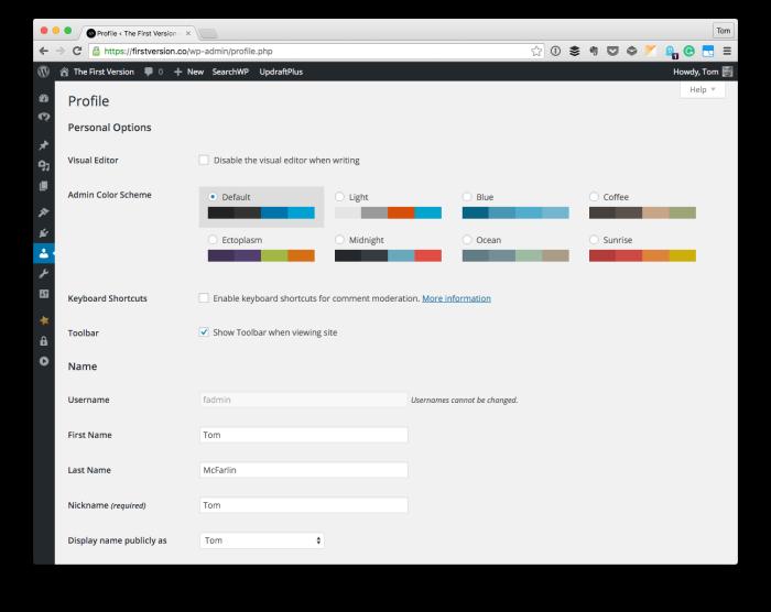 Programmatically Update User Profiles