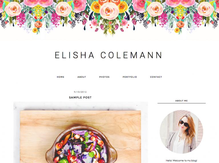 elisha blogger template