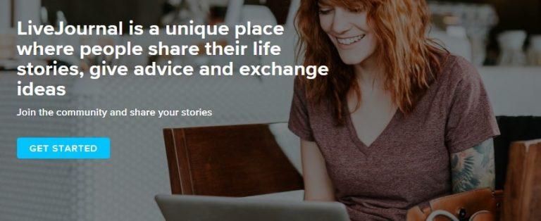 livejournal website page