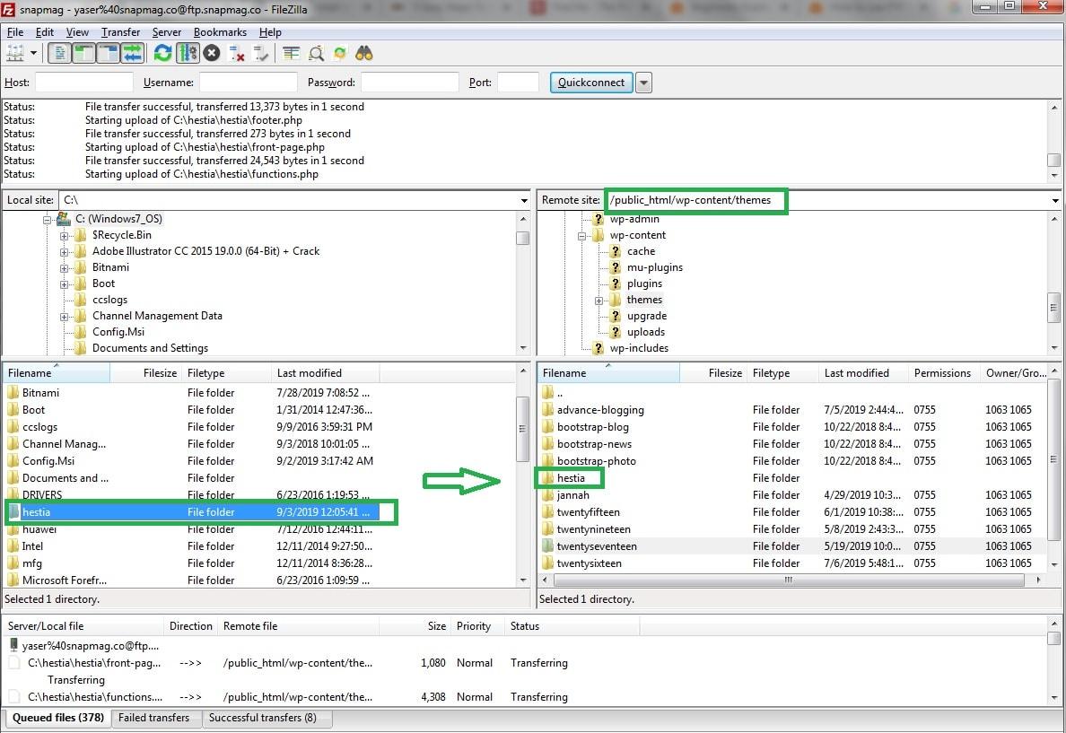 Save Theme to FTP Folder